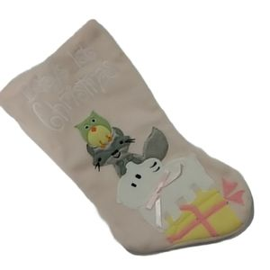 """💗""""Baby's First Christmas"""" Stocking NWT"""